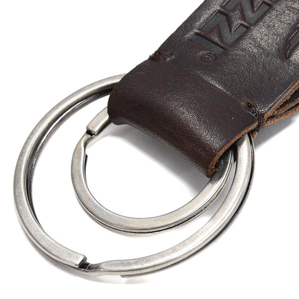 Moto Guzzi Official Leather Strap Keyring
