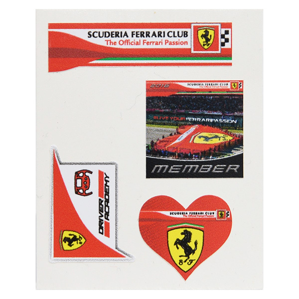 Scuderia Ferrari Club Small Stickers Set
