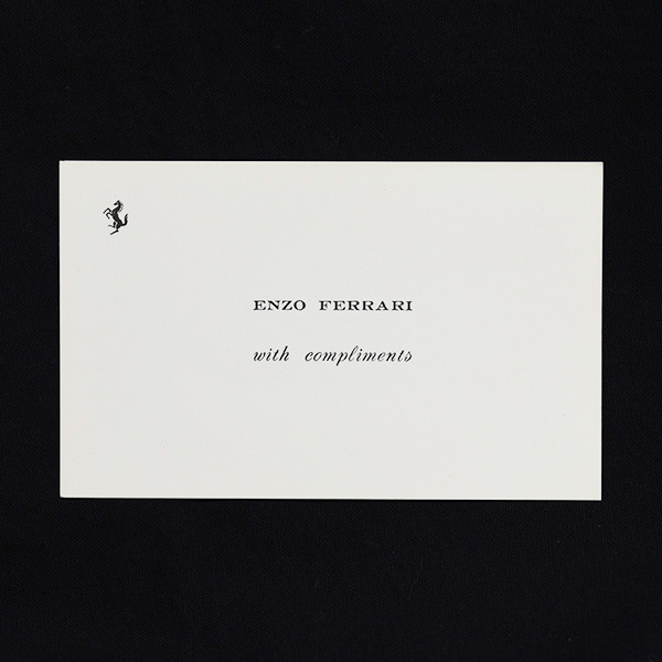 ENZO FERRARI with compliments Card