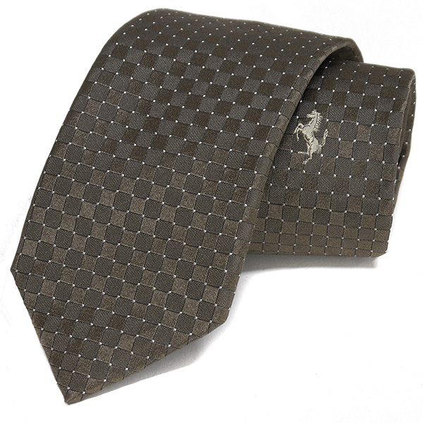 Ferrari Neck Tie(Mini Diamond/Brown)