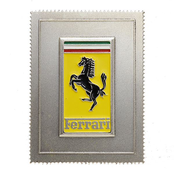 Ferrari Stamp Shaped Emblem Plate