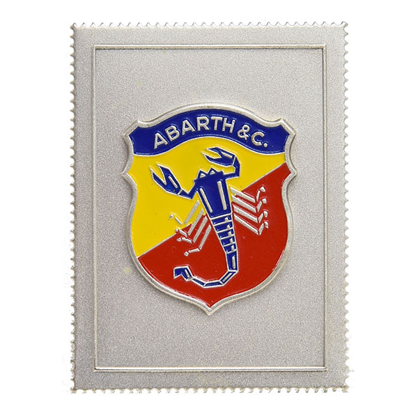 ABARTH Emblem Stamp Shaped Plate