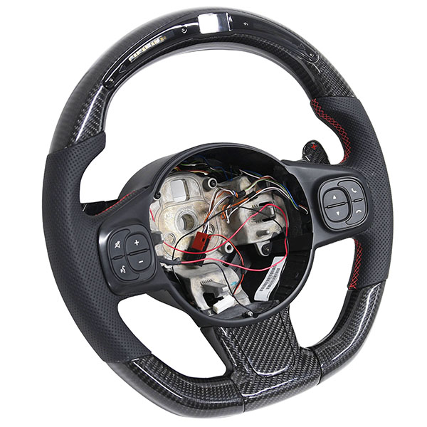 ABARTH 595 LED Indicator Carbon Steering Wheel(Series 4/MTA)