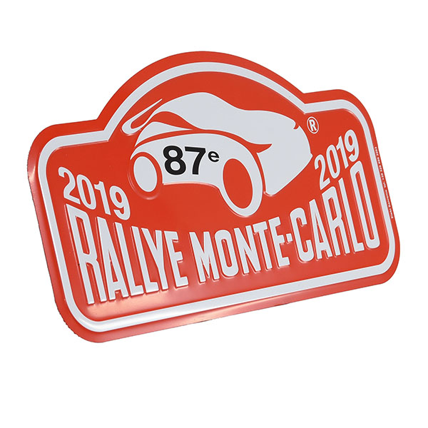 Rally Monte Carlo 2019 Official Metal Plate(Large)