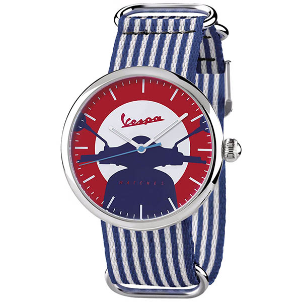 Vespa Official Watch-IRREVERENT-(Stripe/Red)