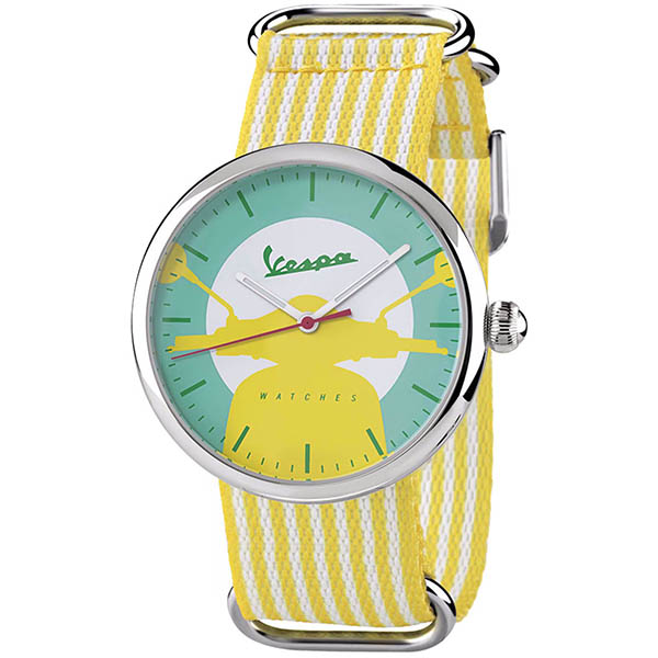 Vespa Official Watch-IRREVERENT-(Stripe/Yellow)