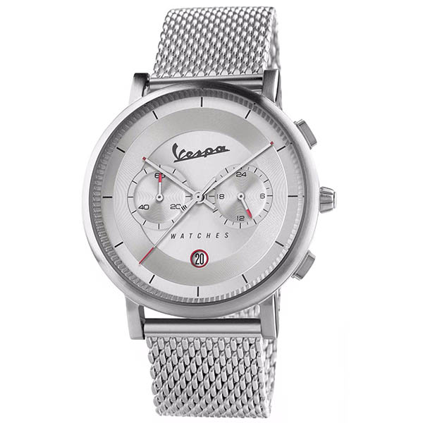 Vespa Official Chronograph Watch-CLASSY/Silver-