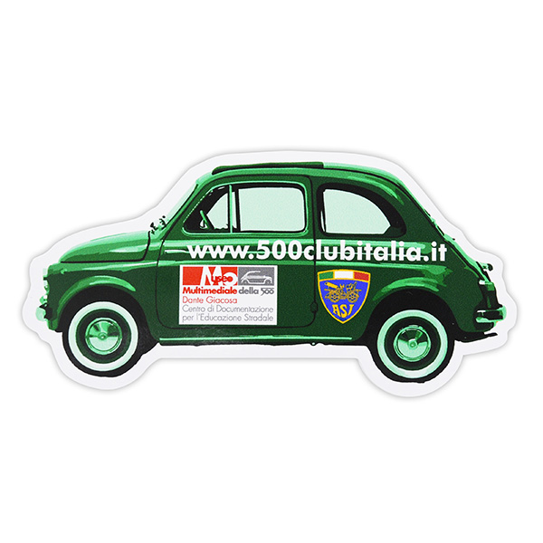FIAT 500 CLUB ITALIA Official Sticker(Type C)<br><font size=-1 color=red>02/07到着</font>