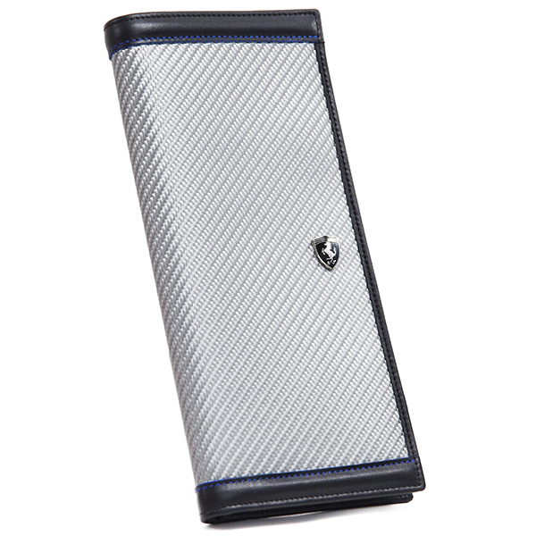 Ferrari carbon fiber Travel Wallet(Silver)