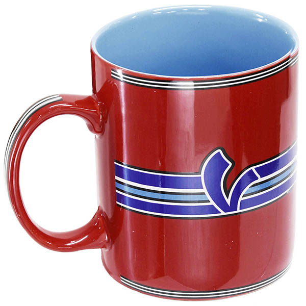 Vespa Official Mug Cup-V STRIPES-(Red)