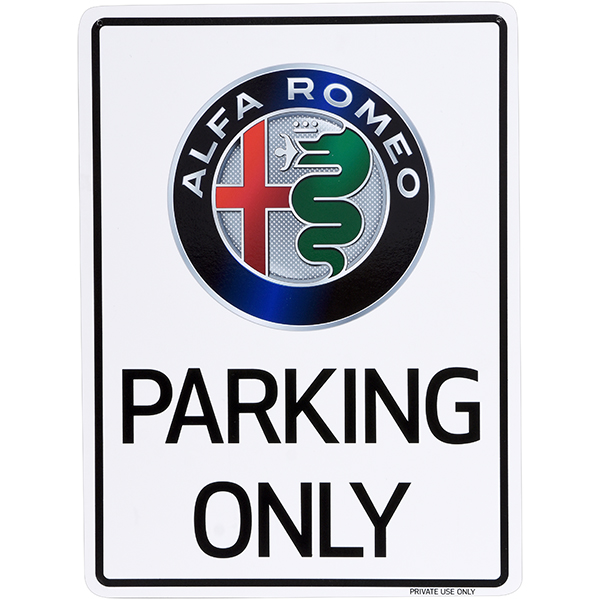 Alfa Romeo Parking Onlyボード