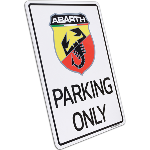 ABARTH Parking Onlyボード