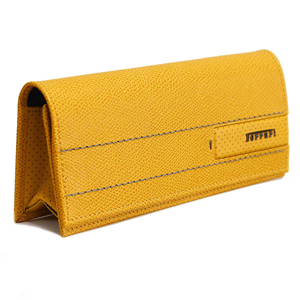Ferrari Leather Glasses Case(Yellow)