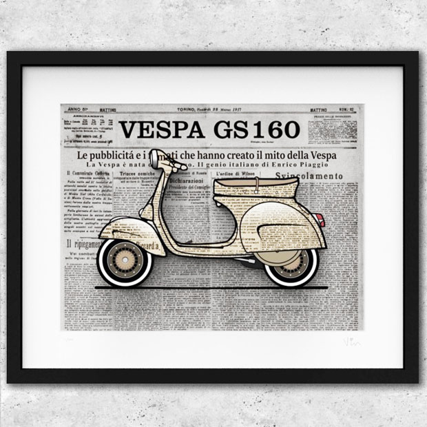 VESPA GS160 Illustration-GIORNALE-by Mr.Vin (Large)