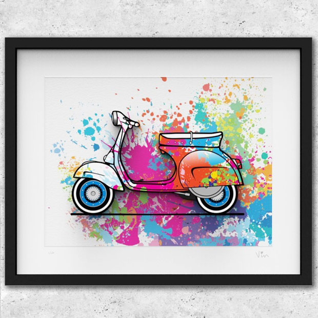 VESPA GS160 Illustration-SPLASH-by Mr.Vin (Large)