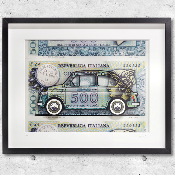 FIAT Nuova 500 Illustration by Mr.Vin -500 LIRE- (Large)