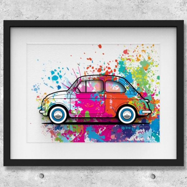FIAT Nuova 500 Illustration by Mr.Vin -SPLASH- (Large)