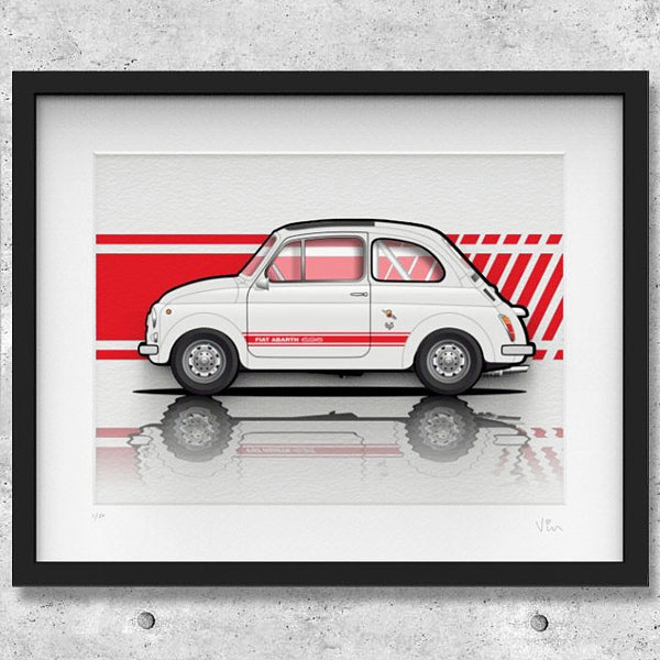 FIAT Nuova 500 Illustration by Mr.Vin -ABARTH- (Large)