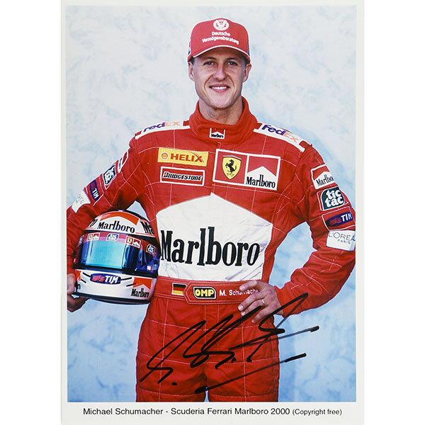 Scuderia Ferrari 2000 M.Schumacher Photo-M.schumacher Signed-