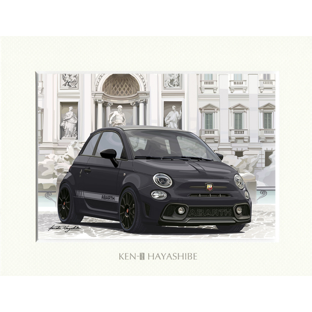 ABARTH1595-Series 4- (Black) Illustration by Kenichi Hayashibe