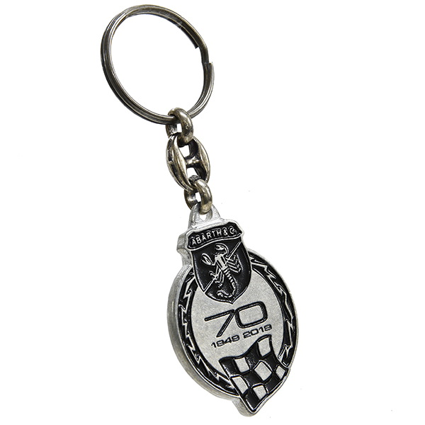 ABARTH 70 anni Memorial Keyring<br><font size=-1 color=red>03/25到着</font>