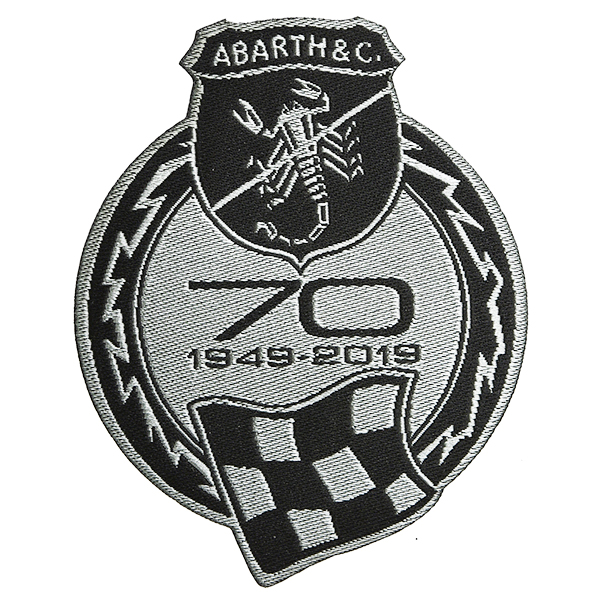 ABARTH Official 70th Anniversary Emblem Patch