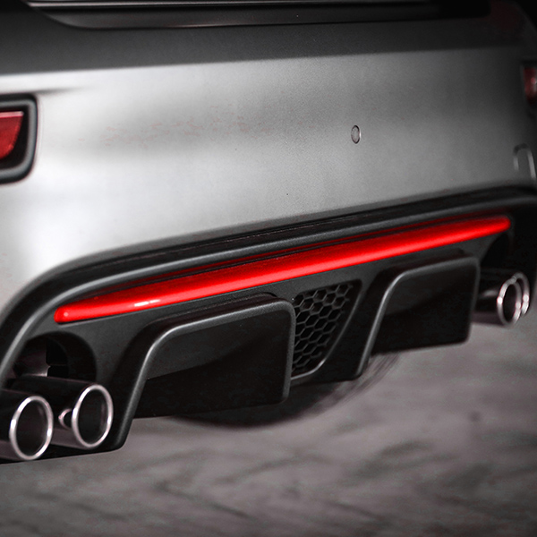 ABARTH Official 595/695(2016~Sr.4)Rear Bumper Insert(Red)<br><font size=-1 color=red>03/25到着</font>