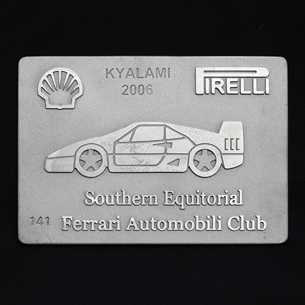 Ferrari AUTOMOBILI CLUB Southern Equitorialアルミプレート