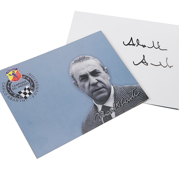 Carlo abarth Card (Annelise ABARTH Signed)