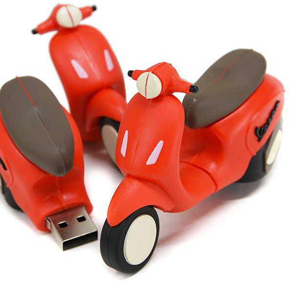 Vespa Official USB Memori(8GB/Red)