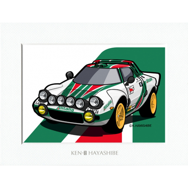 LANCIA Stratos デフォルメイラストレーション by 林部研一