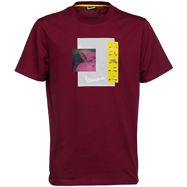 Vespa Official T-Shirts-Heritage-(Bordeaux)