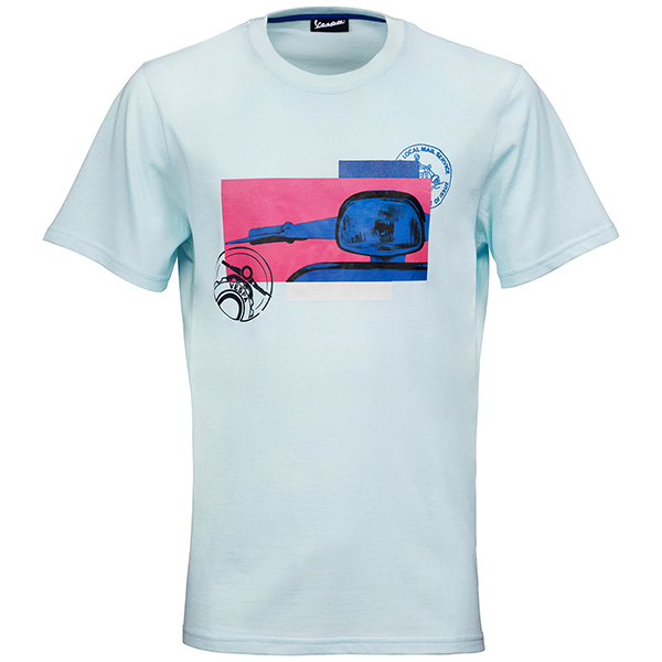 Vespa Official T-Shirts-Heritage-(Ligh Blue)
