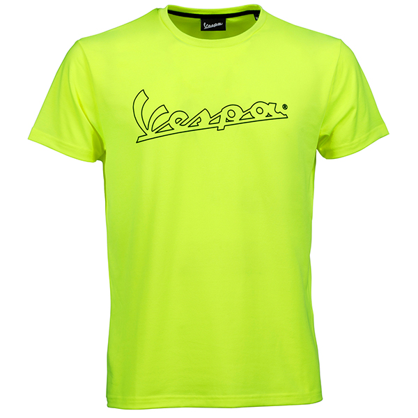 Vespa Official Logo T-Shirts(Yellow)