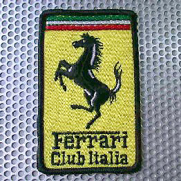 Ferrari Club Italia Emblem Patch (53mmX85mm)