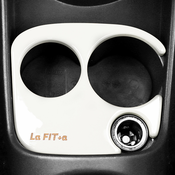 FIAT/ABARTH 500 595(〜シリーズ3)用ウッドカフェホルダーby La FIT+a<br><font size=-1 color=red>01/08到着</font>