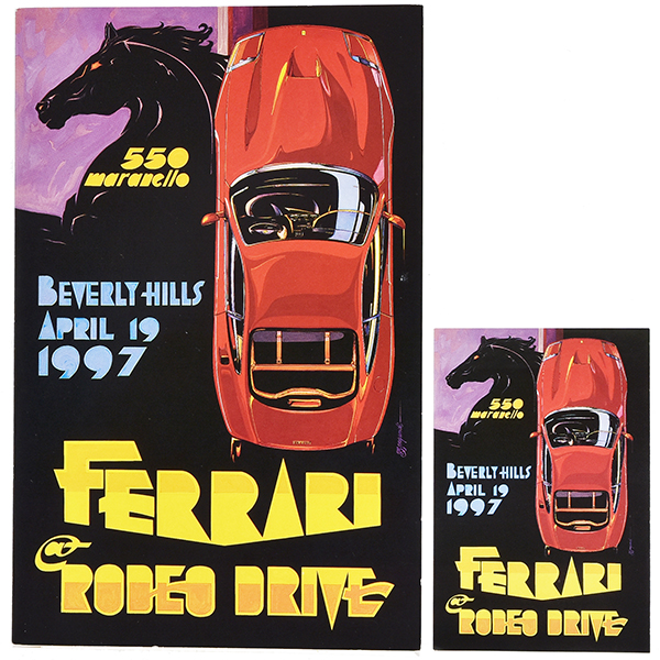 FERRARI at RODEO DRIVE -BEVERLY HILLS ALRIL 19 1997- イベントカード&ステッカーセット
