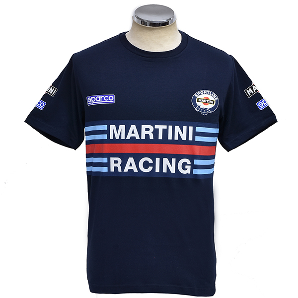 MARTINI RACINGオフィシャルTシャツ(ネイビー) by Sparco<br><font size=-1 color=red>01/15到着</font>