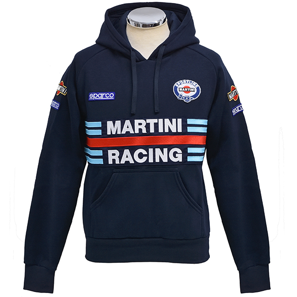 MARTINI RACINGオフィシャルフード付きフェルパ(ネイビー) by Sparco<br><font size=-1 color=red>01/15到着</font>