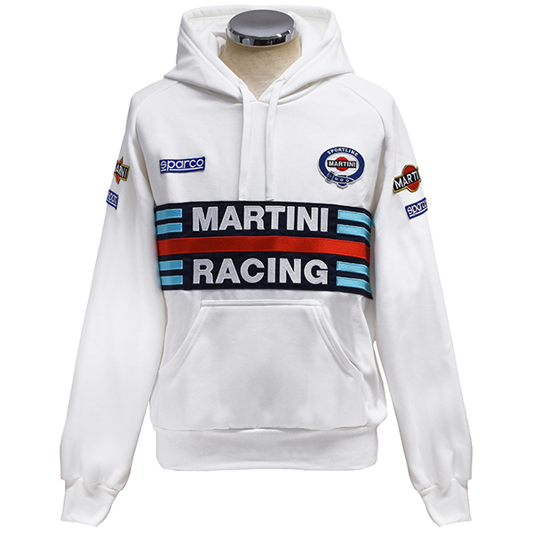 MARTINI RACING Official Hooded Felpa(White) by Sparco<br><font size=-1 color=red>03/05到着</font>