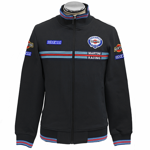 MARTINI RACING Official Zip Up Sweat by Sparco(Black)<br><font size=-1 color=red>03/05到着</font>