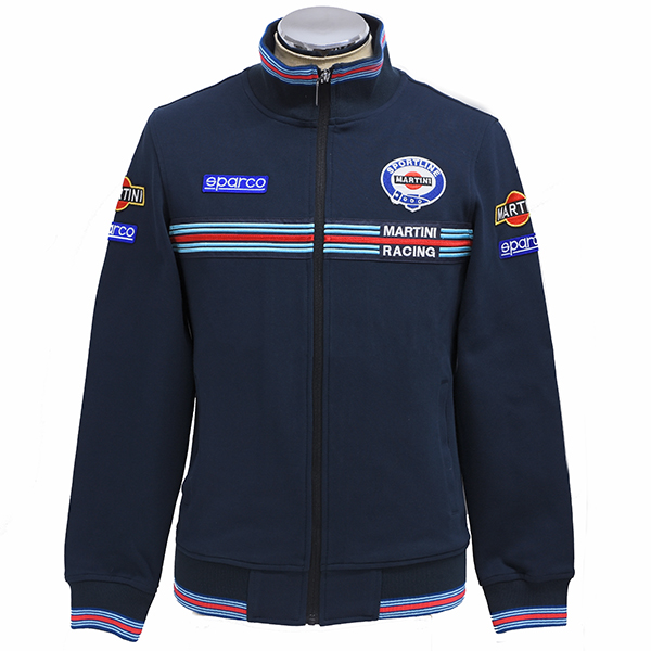 MARTINI RACING Official Zip Up Sweat by Sparco(Navy)<br><font size=-1 color=red>03/05到着</font>