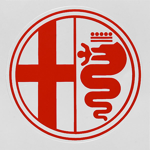 Alfa Romeo Emblem Sticker(Clear Base)