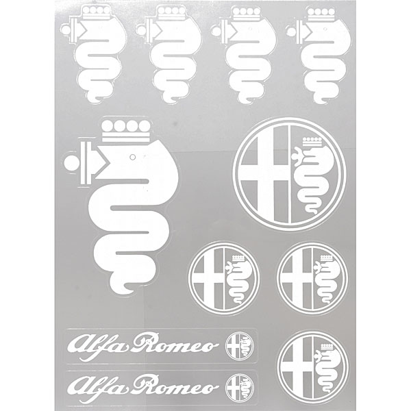 Alfa Romeo Stickers set(White)