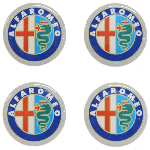 Alfa Romeo 3D Emblem Sticker (21mm/4 pcs.)