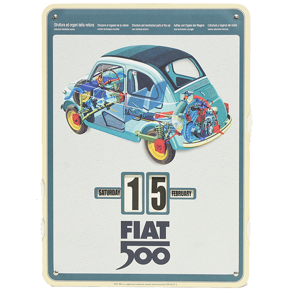 FIAT Nuova 500 Mechanical Calender