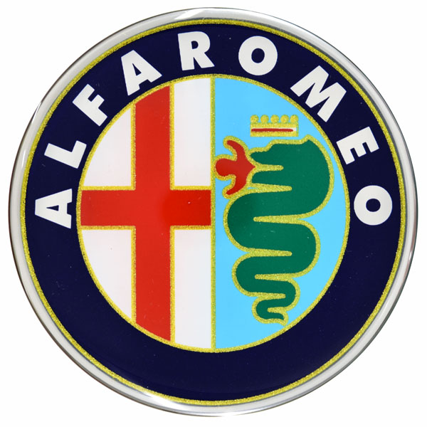 Alfa Romeo 3D Emblem Sticker Type A (75mm)