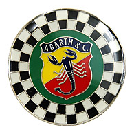 ABARTH Checkered Emblem (Round)