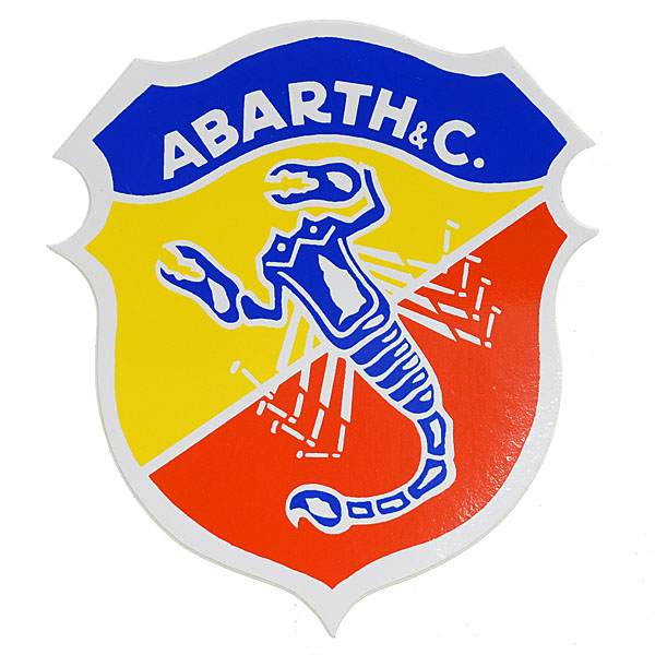 ABARTH Emblem Sticker (White Rim/Large)