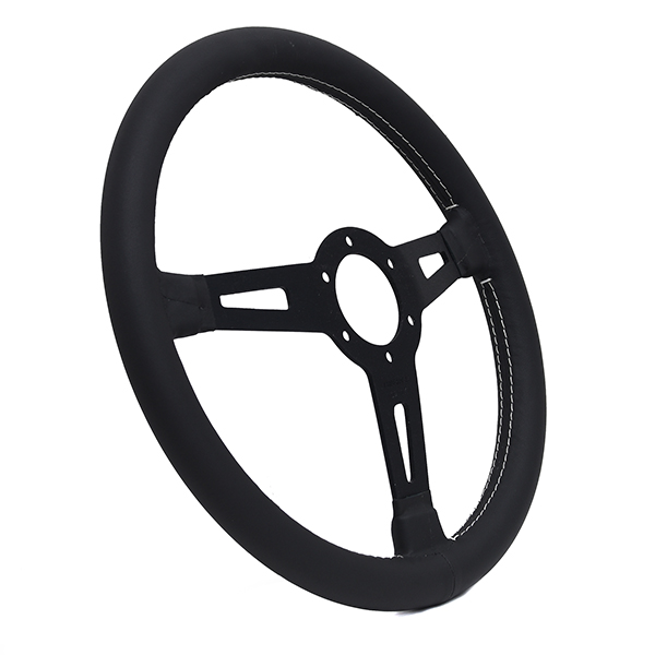 ABARTH Leather Steering Wheel (3 Spoke)